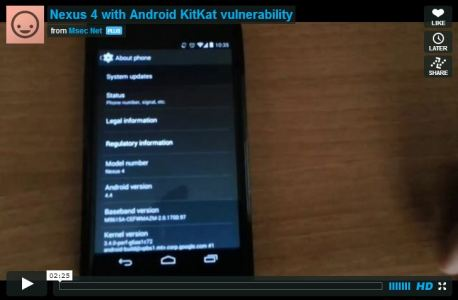 Google Nexus Dos Flaw