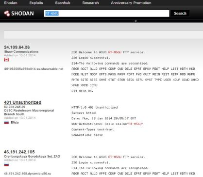 ASUS Routers device with SHODAN 2