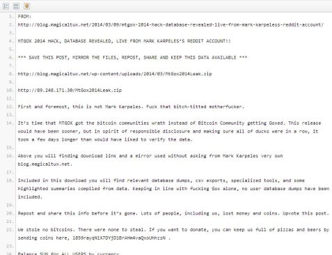 PasteBin BitCoin Anonymous hack
