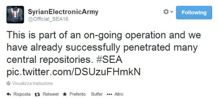 CENTCOM Syrian Electronic Army Twitter US Military