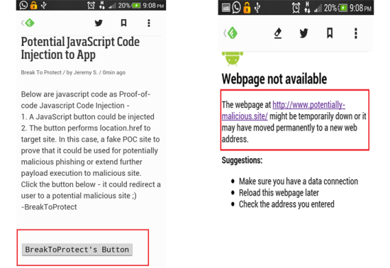 feedly app vulnerability