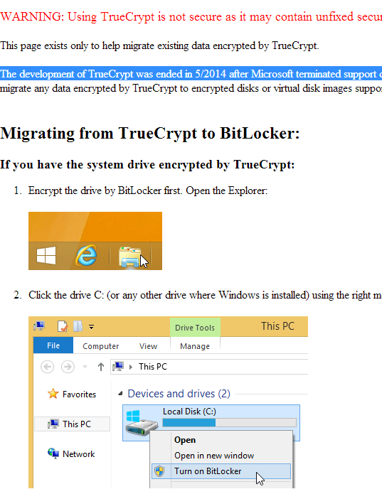 TrueCrypt sourceforge page
