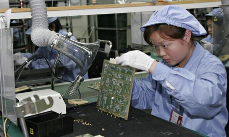 A Huawei employee in Shenzhen, China, in 2005. The US has repeatedly claimed that its communications