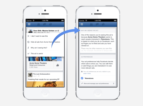 Facebook ads track users