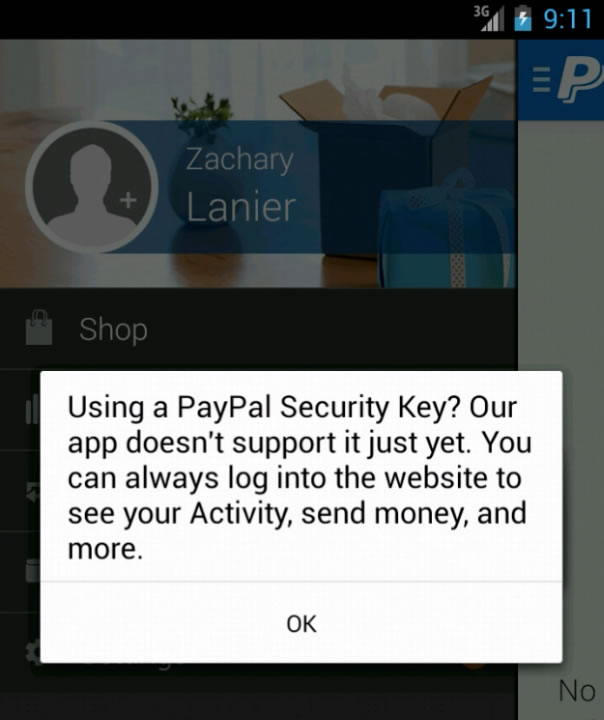Paypal 2 Factor Authentication