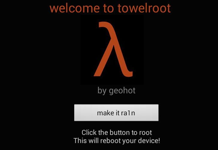 Towelroot, how to root a Android devices with a click