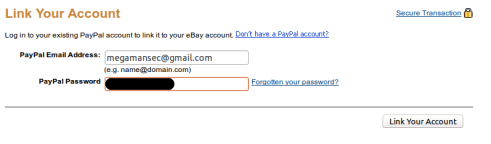 PayPal two-factor authentication bypass
