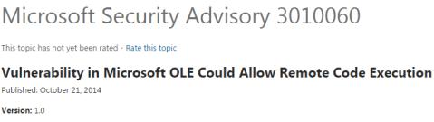 Microsoft OLE zero-day