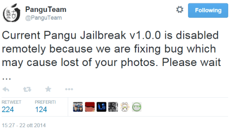 Pangu Jailbreak ios Apple