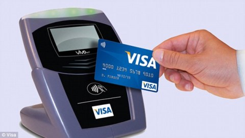 contactless Visa cards 2