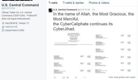US CENTCOM twitter account hacked 5