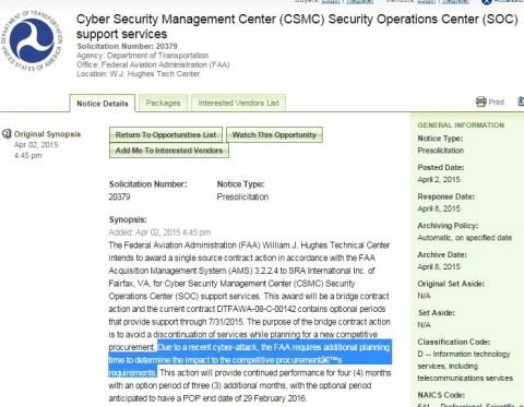 FAA cyber attack