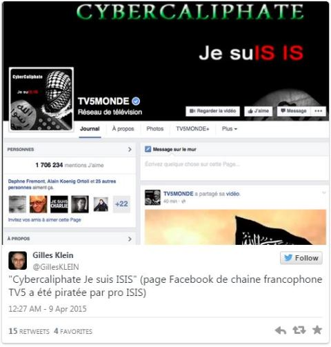 ISIS cyber Caliphate TV5Monde 2