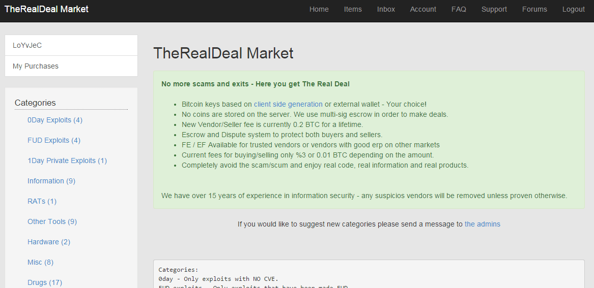 TheRealDeal black Marketplace Offers Zero-Day Exploits
