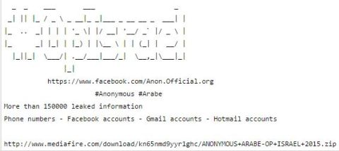 anonymous opIsrael 2015 Facebook accounts archive