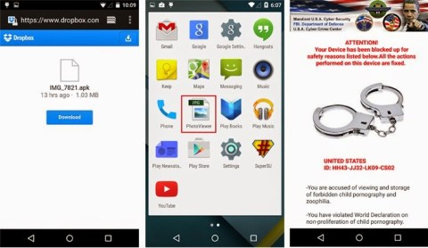ANDROID RANSOMWARE Koler via adult content website