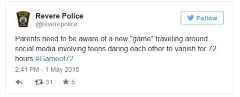 Game of 72 social game police warning