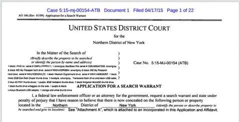 hacking plane in flight Roberts warrant