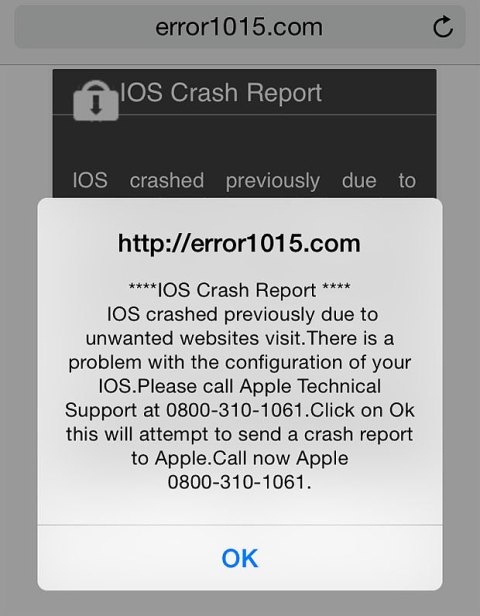iOS crash warnings