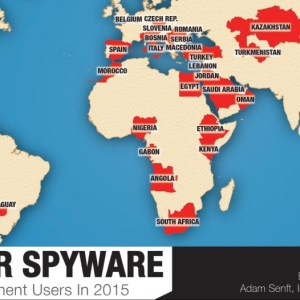 The number of Governments using the FinFisher Spyware is increased