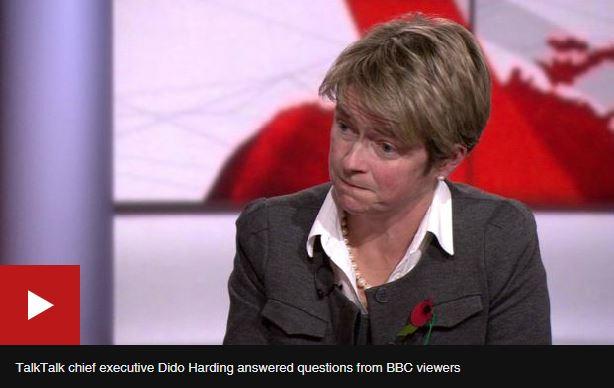 talk talk CEO BBC interview ransom