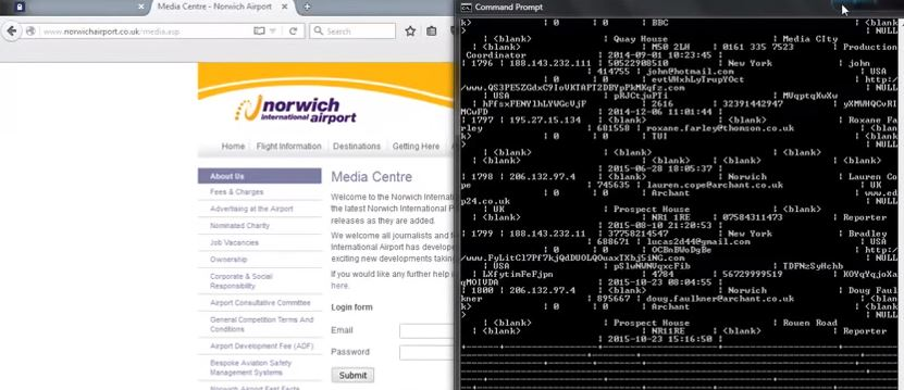 Norwich Airport website hacked 2