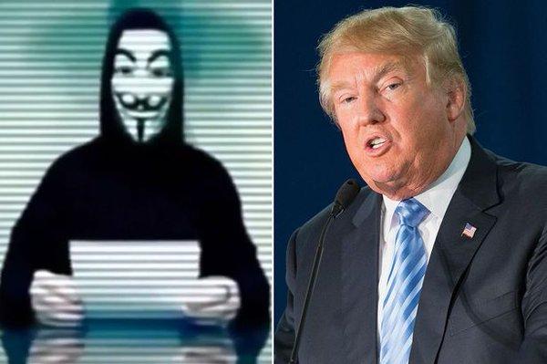 Anonymous hack Trump