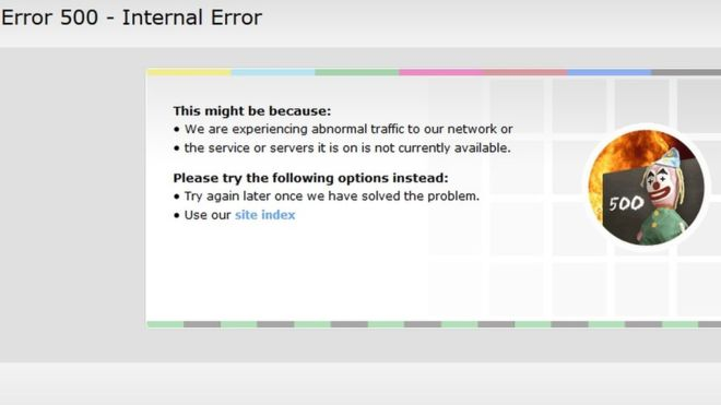 BBC victim DDoS attack