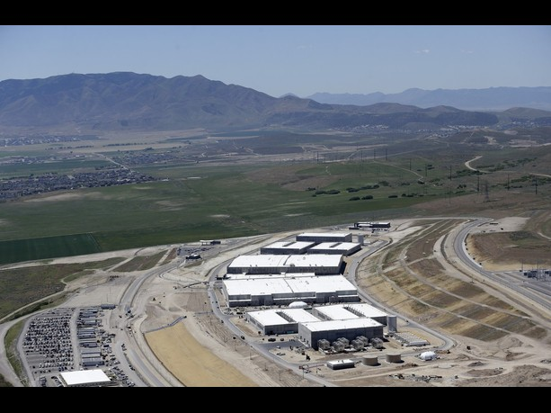 NSA data center 's Utah Data Center in Bluffdale, Utah, Thursday, June 6, 2013. The government is secretly collecting the telephone records of millions of U.S. customers of Verizon under a top-secret court order, according to the chairwoman of the Senate Intelligence Committee. The Obama administration is defending the National Security Agency's need to collect such records, but critics are calling it a huge over-reach. (AP Photo/Rick Bowmer)