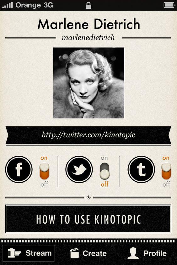 Kinoptic iOS app