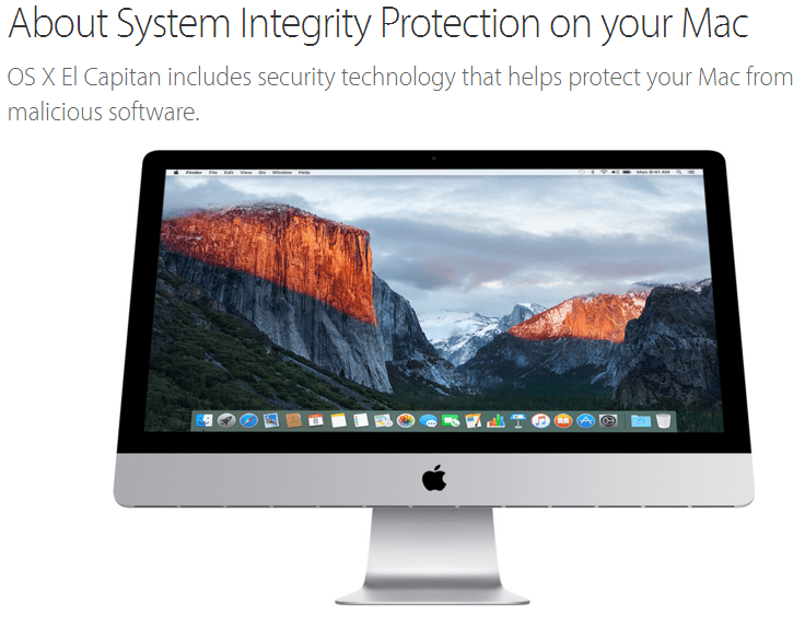 System Integrity Protection SIP bypass OS X El Capitan