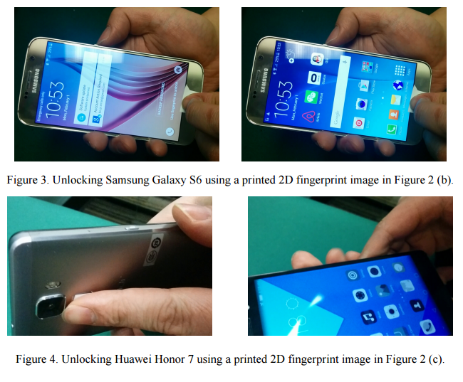 spoofing fingerprint sensor