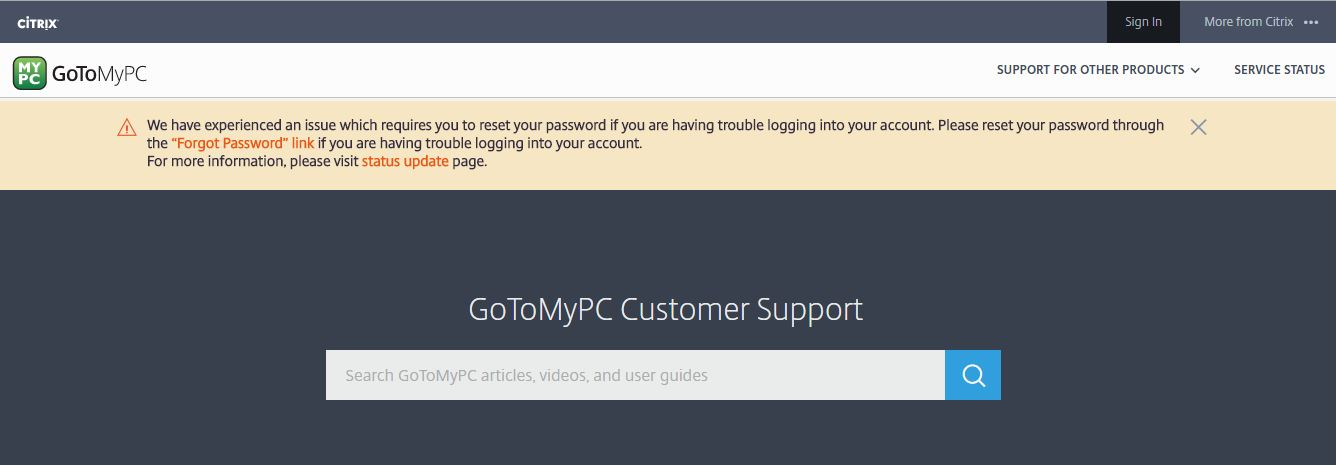 GoToMyPC security breach