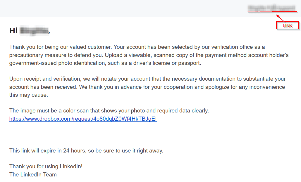 In Watch The A New Affairs Is Phishing Spreading Linkedin Wildsecurity Campaign Out