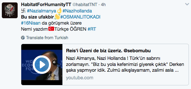 Turkey vs Holland Twitter accounts hacked