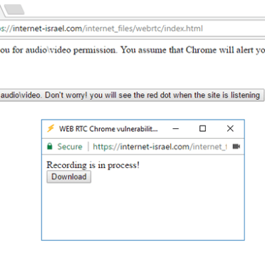 Chrome design flaw allows sites to record Audio/Video without