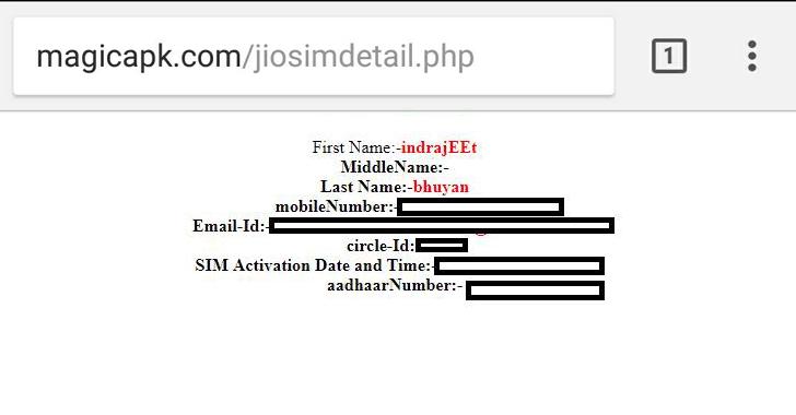 Reliance Jio data breach