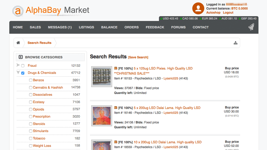 theAlphaBay Market was shut downby the law enforcement, exactly like its predecessor Silk Road, and the alleged mastermind committed suicide in jail.