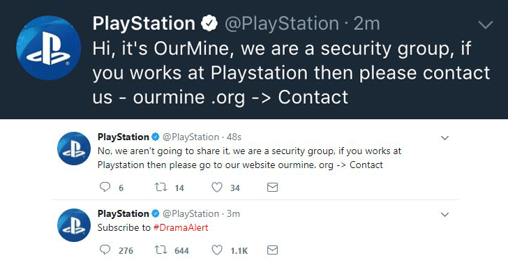 PSN Ourmine sony-playstation-hacked