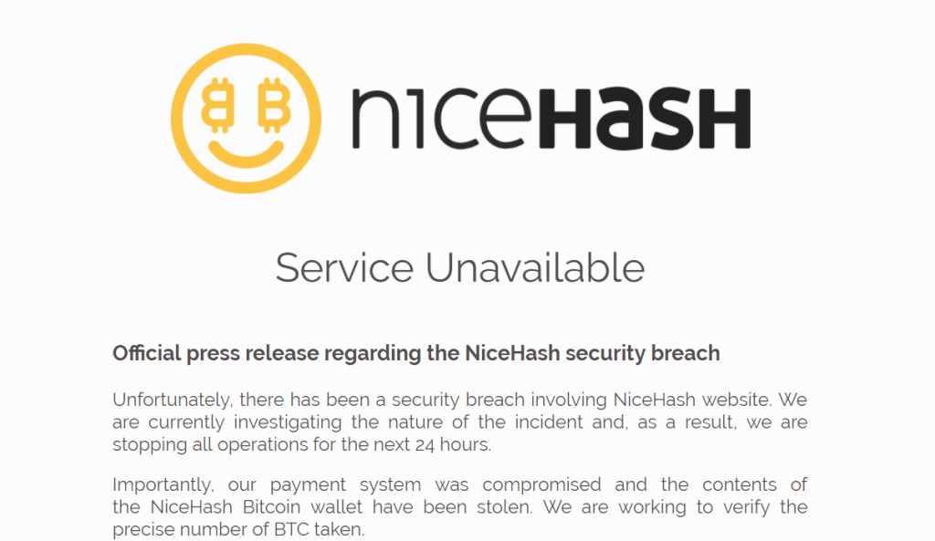 NiceHash data breach