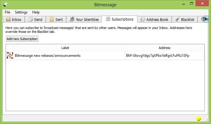 bitmessage app