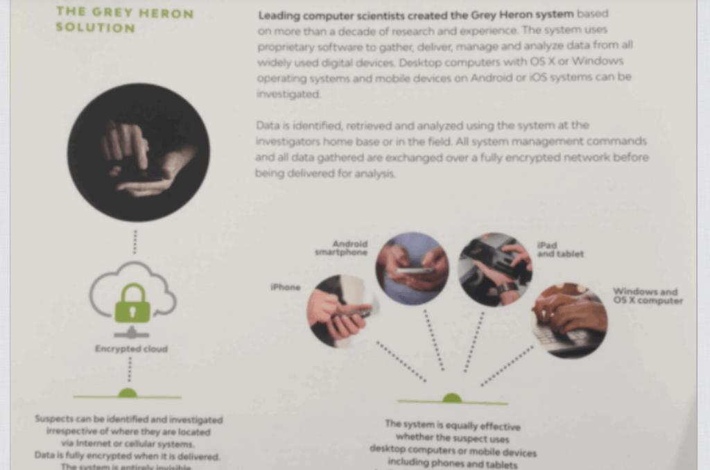 Grey Heron spyware