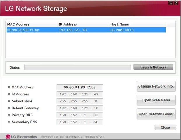 LG Network-attached storage