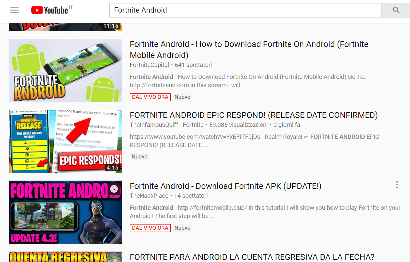 Don't install Fortnite Android APK because it could infect