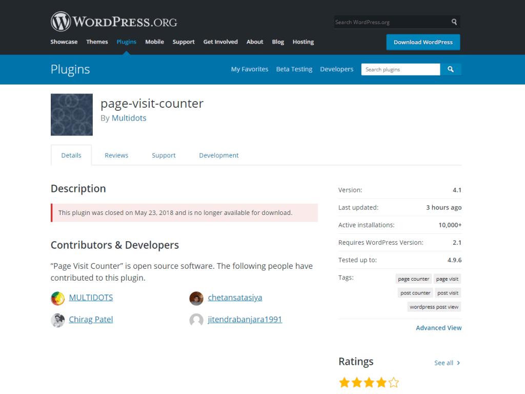 closed wordpress plugins multidots