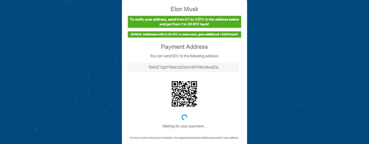 Elon Musk BITCOIN Twitter scam, a simple and profitable