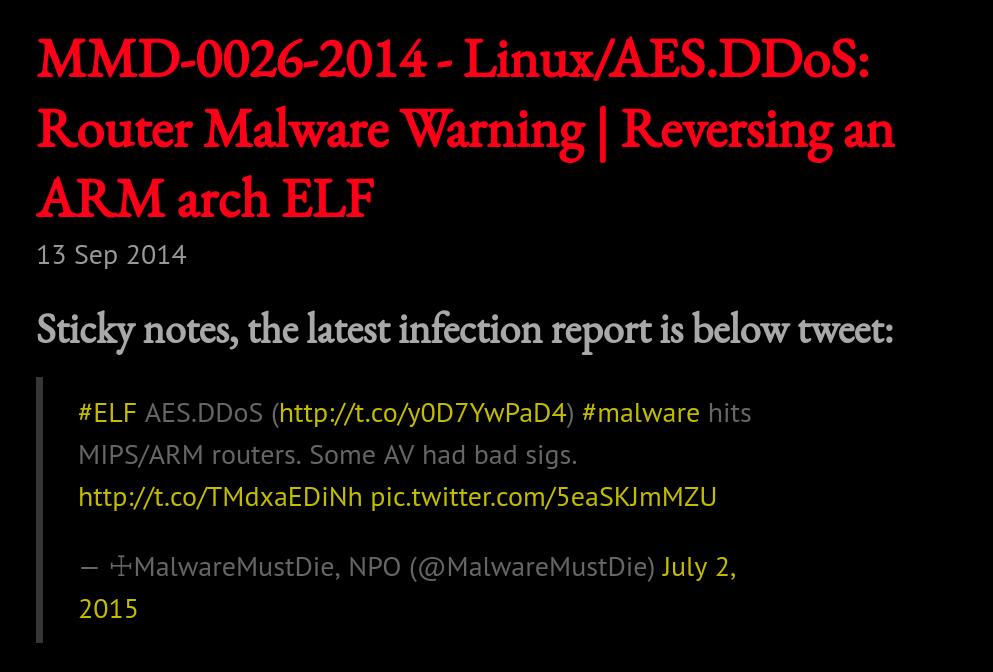 Elknot DDoS