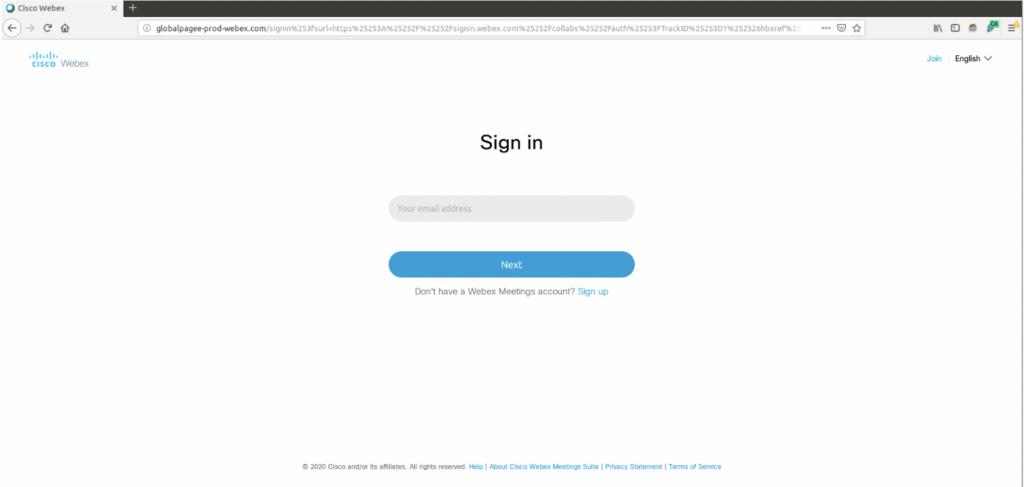 webex phishing