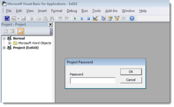 epic Manchego Excel password prompt vba project