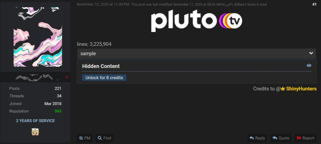 Shiny unters PLUTO TV